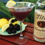 Blackberry Lemon Drop Martini
