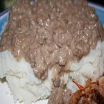 Chopped Steak on Mashed Potatoes